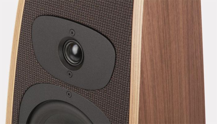 The Twist Select loudspeaker detail that shows the tweeter